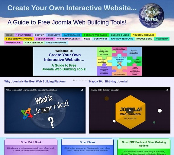create your own interactive website